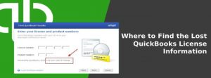 Recover Lost Quickbooks License Information